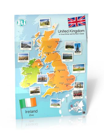 British Isles Map Poster Cywilizacyjny Mapa ścienna